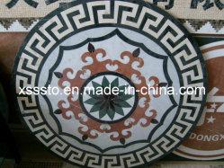 ديكور على شكل دائري من الفيسفساء الفنية العالية الأرضية والتزيين على الحائط