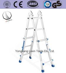 Multifunctionele Aluminium Ladder Van Hoge Sterkte Met Safelock-Stalen Scharnier