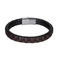 Les hommes en acier inoxydable bracelet boucle magnétique à aimant les hommes Bracelet en cuir