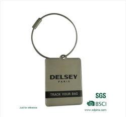 Más barato el logotipo de la impresión de etiqueta de la llave de equipaje de metal (xd-031726)