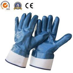 Duas vezes médios Luvas de nitrilo resistente ao óleo luvas de trabalho Industrial de segurança