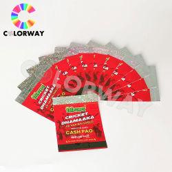 Le texte masqué fluorescente sous UV Filigrane encre Ovi Microtext gratter Anti-Counterfeiting Coupon d'hologramme de sécurité/Ticket/Pièce/certificat/Carte/Impression papier
