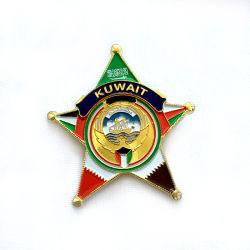 Custom крест-накрест герб мягкой эмали Металлический бейдж