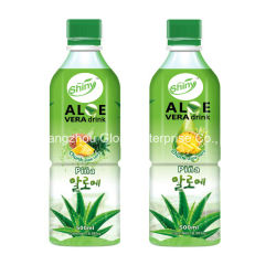 500ml 빛나는 상표 Pulpa 범죄자 Cubitos De Aloe Vera와 가진 자연적인 파인애플 Sabor Bebida De Aloe Vera 음료