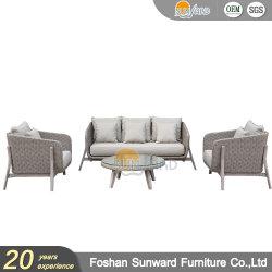 方法屋外のホテルの柳細工の別荘のアルミニウムソファーの家具