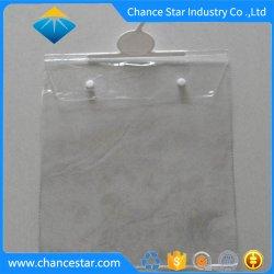 Impressão personalizada de logotipo botão Gancho de plástico Saco de PVC de encerramento