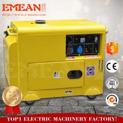 Воздушное охлаждение 6 квт красный желтый электрический генератор дизельного двигателя