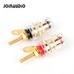 Poste de liaison de cristal pour amplificateur haut-parleur de 4 mm les bornes du connecteur à fiche banane (BT-065)