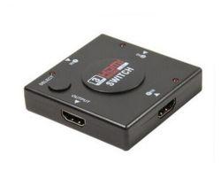 3 port 3X1 Contacteur de prise en charge HDMI v1.4 1080P 4K HD Lecteur de DVD avec télécommande infrarouge