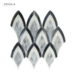 Шаблон стеклянной мозаики оформление листов черный и серый цвет для искусства ванная комната