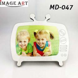 TV MDF vierge de sublimation en forme de cadre photo avec la feuille en aluminium