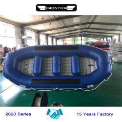 Foldable PVC Hypalon膨脹可能なゴム製白濁水の川のロウイングのいかだで運ぶか、または漂う空気ボート