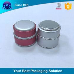 Het hete Verkopen om Kruik van de Room van het Gezicht van de Container van het Glas van het Aluminium van de Fabrikant de Lege Kosmetische