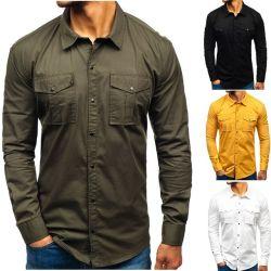OEM usine de gros d'affaires décontractée Logo personnalisé coton robe formelle Shirt pour hommes