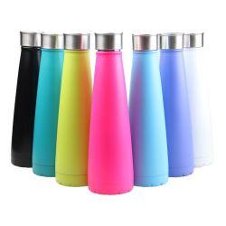 Coloridas de acero inoxidable de 500ml botella de agua de cola con aislamiento de taza de viaje