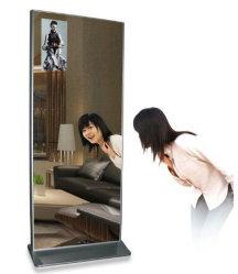43-98 pouces statif au sol de la publicité vidéo en verre miroir magique de l'écran panneau LCD Ad Player