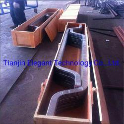 Het Beklede Koper die van het titanium Vlakke Staaf voor het Vacuüm Maken van het Zout/de RuimtevaartBekleding van het Titanium van het Staal de BimetaalDelen van de Slijtage beëindigen