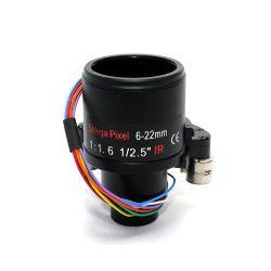 عدسة زووم آلي مقاس 6 - 22 مم مزودة بالتكبير Vari-Focal CCTV مقاس 1/2.5 بوصة، 5 ميجا بكسل ببعد بؤري F1.6 عدسات D14 Mount، أمان بؤري تلقائي تلقائي تلقائي لفتحة العدسة تلقائيًا، تركيز تلقائي عدسات الكاميرا
