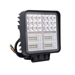 4 $/pcs Hot sales 4 pouces de 24W Deux voyants LED de couleur Mini Feux de travail d'avertissement de la conduite de voiture Bus tracteur agricole de l'agriculture et de génie industriel