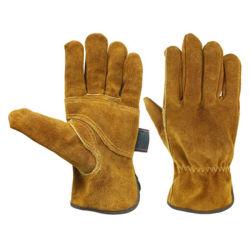 Усиленная Palm коровы Split кожаные перчатки сварки короткие кожаные рабочие перчатки