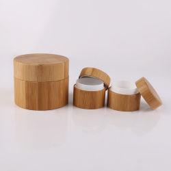 Le bambou cosmétique Jar POUR LA CRÈME ET LOTION organique