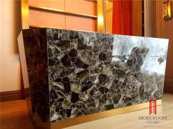 Верхний класс Smokey кристалла кварца серого цвета слоев REST для мебели счетчик верхней части