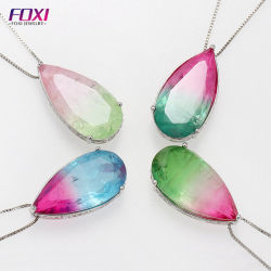 Hot vente de bijoux en pierres de glace Rainbow Necklace