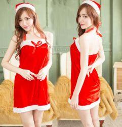 Les femmes Costume de Noël de vêtements pour adultes avec capuchon de Noël