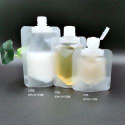 Blanco impreso personalizado 1L de lavado de manos de gel de llenar la bolsa de boca de descarga de la esquina Stand up Pouch