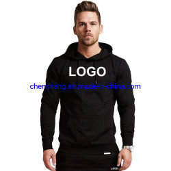 Мода классических спортивных фитнес-Mens Hoodies обычная пустым Custom худи для мужчин
