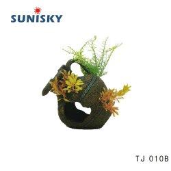 Tj 010b Artificial decoración Plantas de acuario Pecera