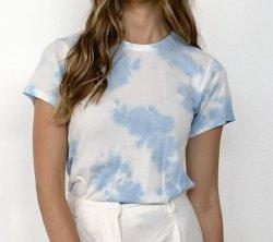 Облачные Tie-Dyed 100% хлопок Light-Weight один Джерси женский трикотаж футболки