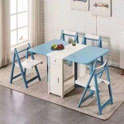 Heller Luxuxklapptisch kann einen nordischen einfachen hölzernen Tisch in einer kleinen Familie mit ein Multifunktionsklapptisch-im Freientisch-Sets anpassen