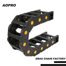 Router CNC Máquina de plástico flexible de la cadena de arrastre portacables