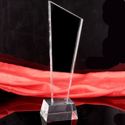 K9 trofeo de cristal personalizado para los ganadores de premios de recuerdos (Ks040422)