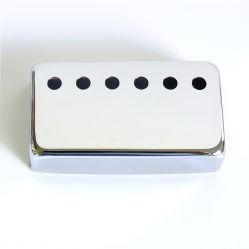 Cor cromado Maillechort Guitarra Humbucker Lp Material da tampa do coletor