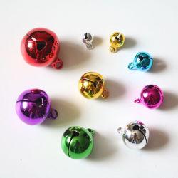 Kleines festes rotes goldenes kleines Weihnachtsdekorative Metallklingel Bell