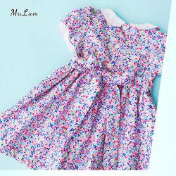 가을에 새로운 글리터 스타 보일 솔리드 니트 프록 디자인 키즈입니다 의복 베이비 걸 드레스