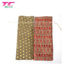 Custom estimé Calico sac réutilisable en mousseline coulisse