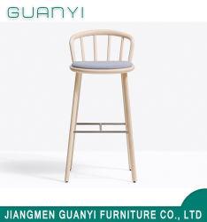 자연적인 높은 선술집 검정 의자 목제 의자