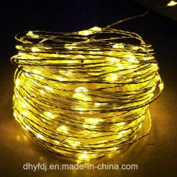 Chaîne de cuivre de conte de lumière LED décoration chambre d'arbre de Noël à LED rouge Twinkle Feux de chaîne