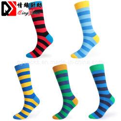 Listra colorida Fashionable Senhoras Sports vestir meias de nylon tricotado
