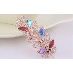 Belle forme foliaire Hair Clip avec Diamond
