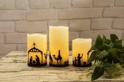 Cire réel Candle Light LED avec le dessin pour l'église et du Temple