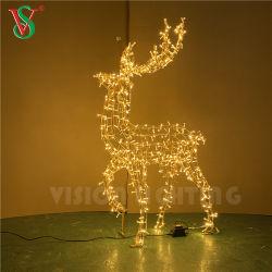 Для использования вне помещений Рождество алюминиевая рамка 3D оленей животные мотивы фонари