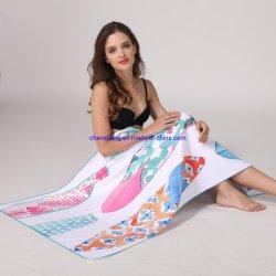 Nuevo portátil de diseño de la mujer de microfibra toallas de playa deportes acuáticos piscina piscina toalla con bolsa de malla