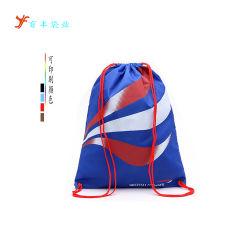 ドローストリングのバックパックはジッパーおよび水差しの網のポケットが付いている体操袋を遊ばす