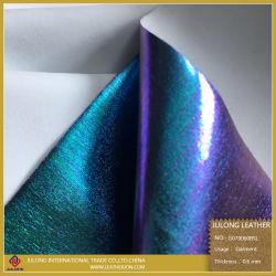 Changé de couleur imitation PU Leatheroid artificiel synthétique pour les femmes du vêtement
