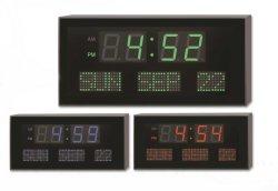 ساعة تقويم ديكور كهربائية للحائط الرقمي بتقنية LED