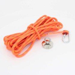 Bester Neodym-Fischen-Magnet eingestellt mit Ringbolzen-freien Proben, doppeltem mit Seiten versehenem Potenziometer-Magnet-Fischen-Wiedergewinnung-Installationssatz mit Seil und Handschuh